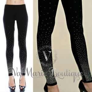 Crystal Rhinestone Soft Brushed Leggings